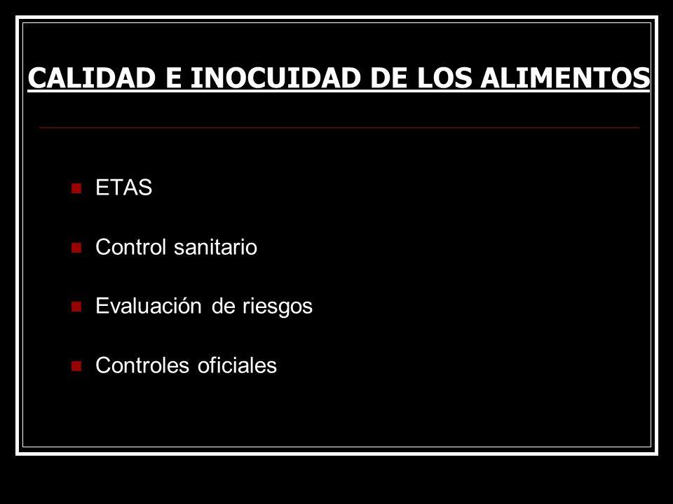 CALIDAD E INOCUIDAD DE LOS ALIMENTOS
