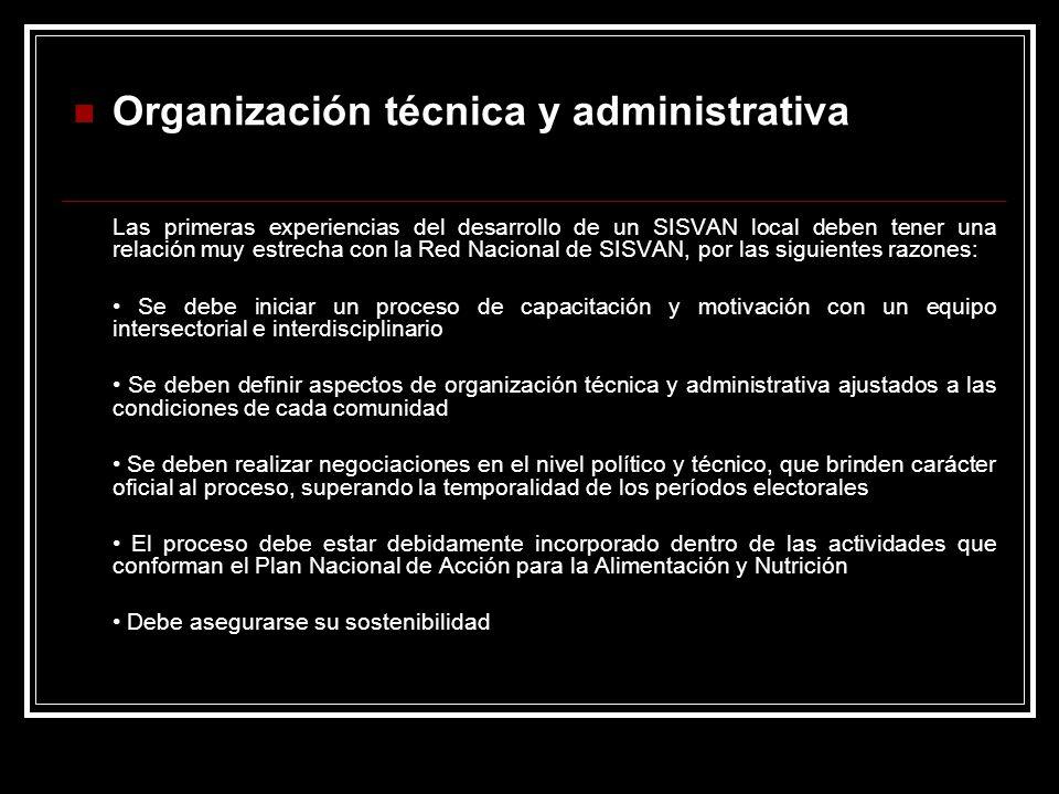 Organización técnica y administrativa