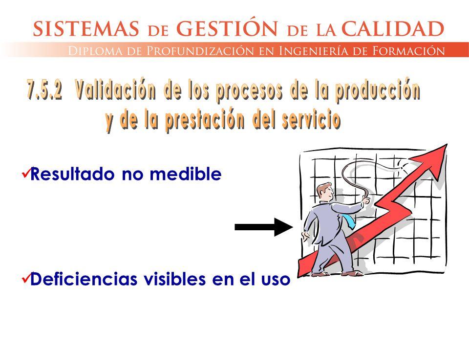 7.5.2 Validación de los procesos de la producción