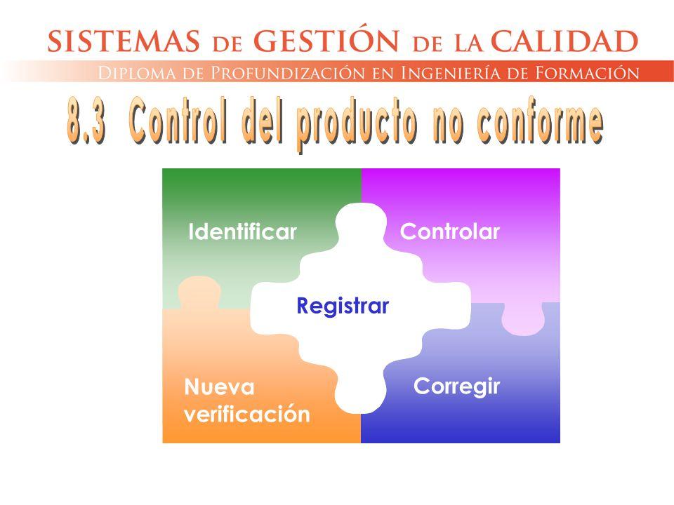 8.3 Control del producto no conforme