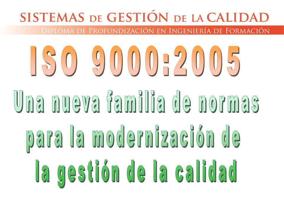 ISO 9000:2005 Una nueva familia de normas para la modernización de