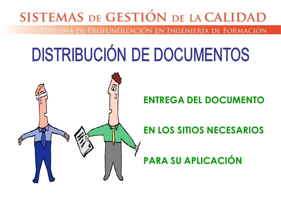 DISTRIBUCIÓN DE DOCUMENTOS