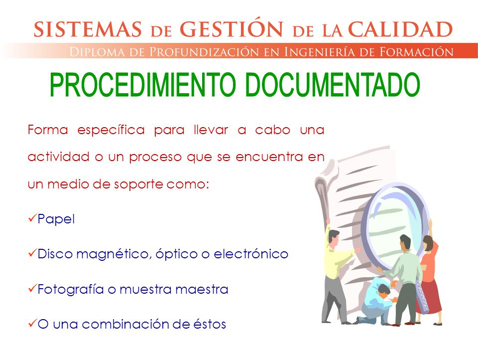 PROCEDIMIENTO DOCUMENTADO