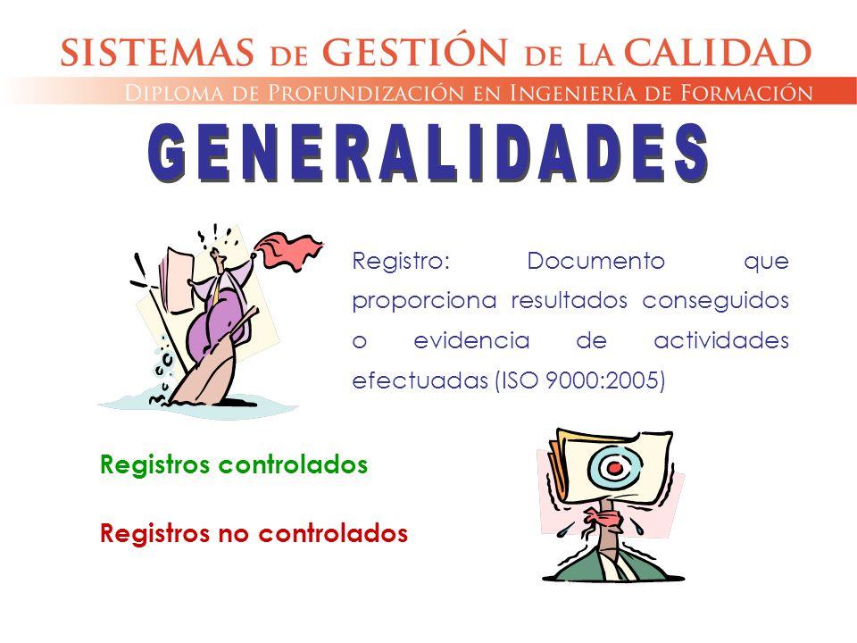 GENERALIDADES Registros controlados Registros no controlados