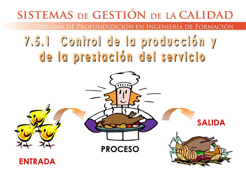 7.5.1 Control de la producción y de la prestación del servicio