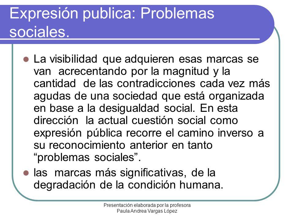 Expresión publica: Problemas sociales.