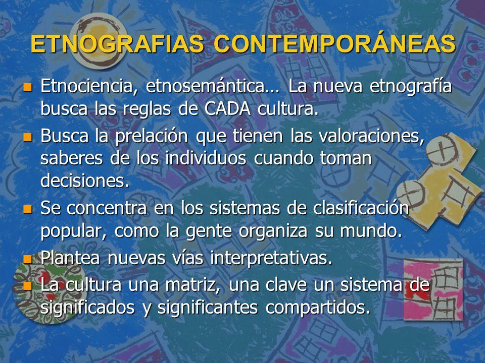 ETNOGRAFIAS CONTEMPORÁNEAS