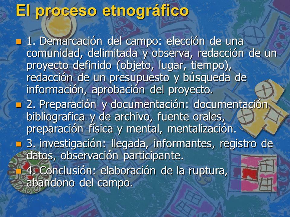 El proceso etnográfico