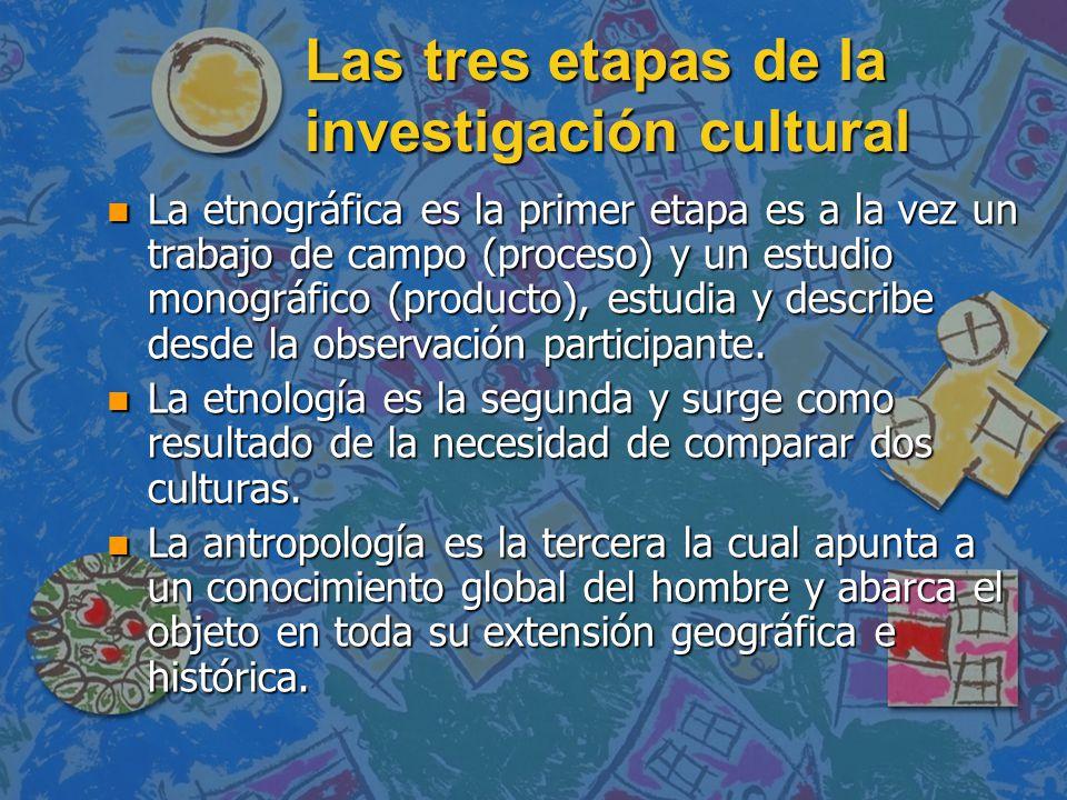 Las tres etapas de la investigación cultural