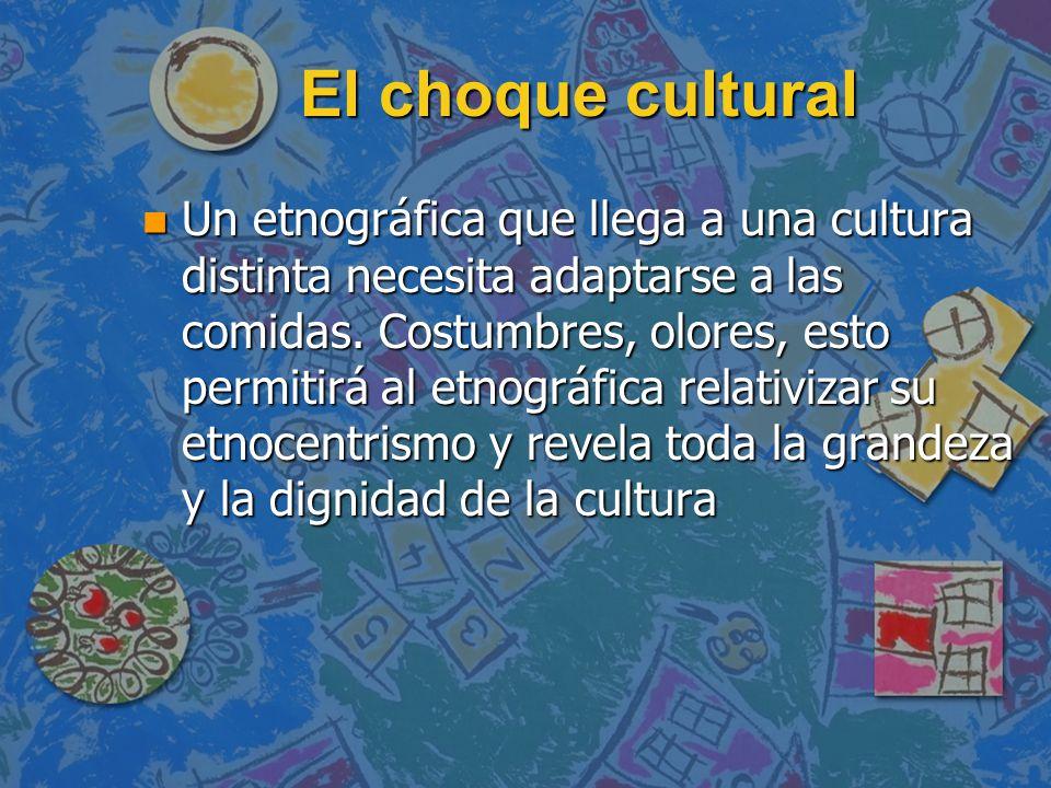El choque cultural