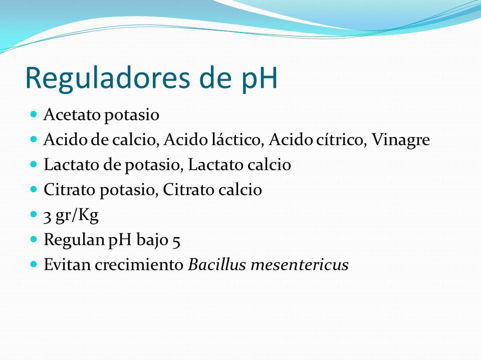 Reguladores de pH Acetato potasio
