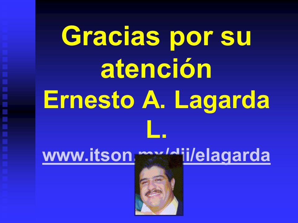 Gracias por su atención Ernesto A. Lagarda L. www. itson