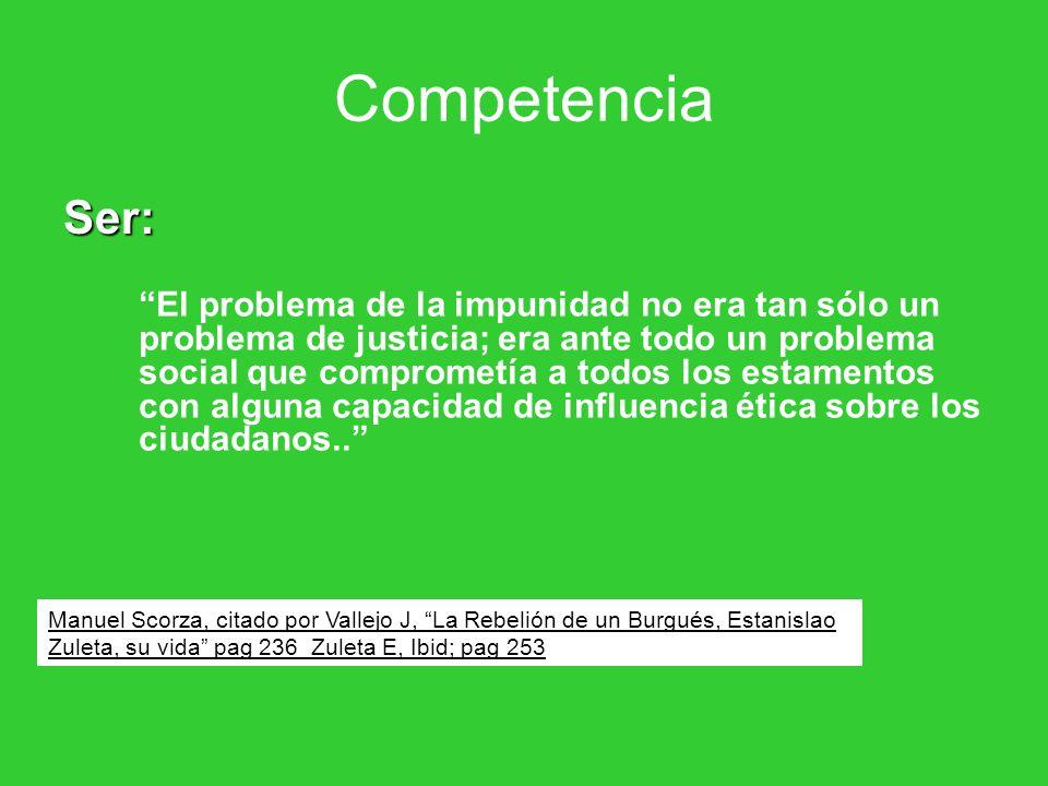 Competencia Ser: