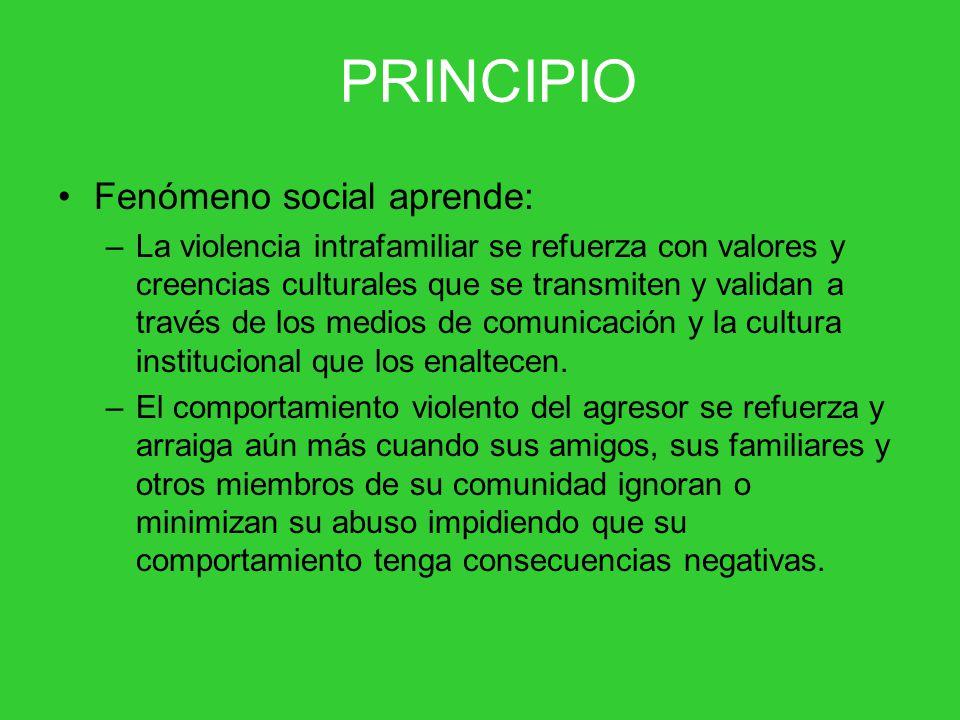 PRINCIPIO Fenómeno social aprende: