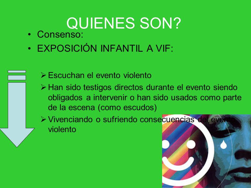 QUIENES SON Consenso: EXPOSICIÓN INFANTIL A VIF: