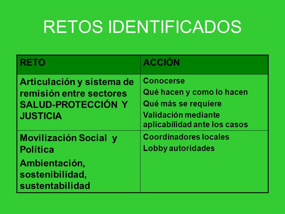 RETOS IDENTIFICADOS RETO ACCIÓN