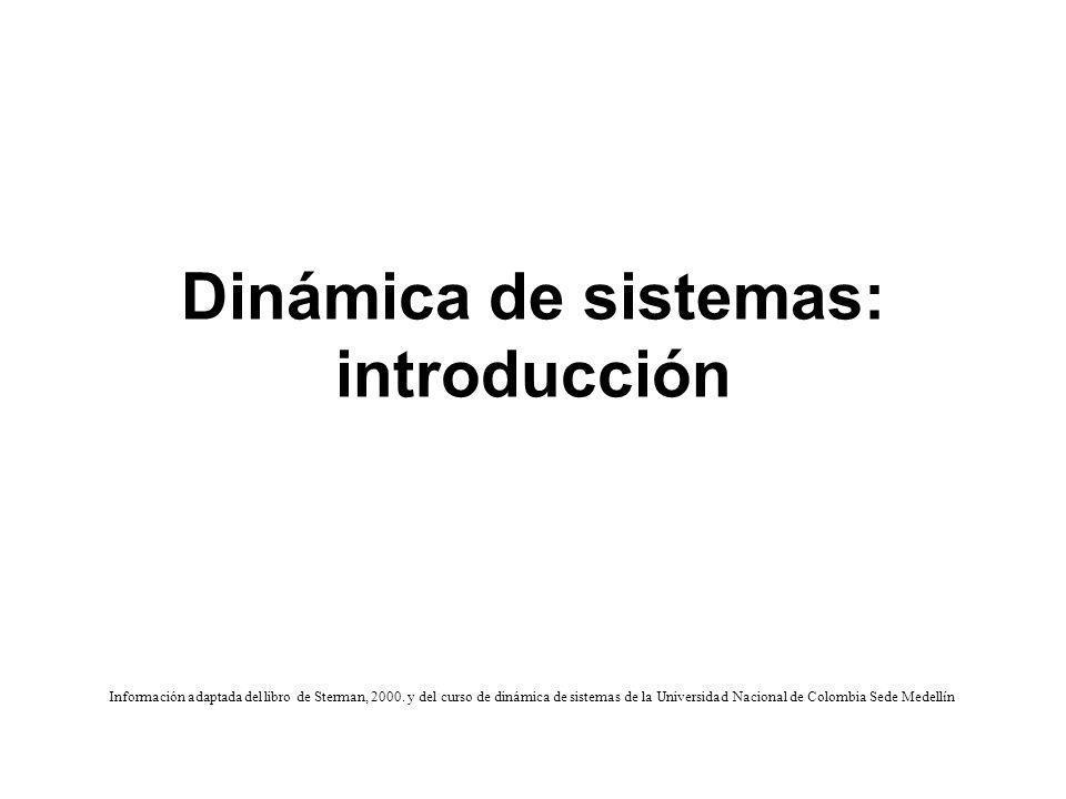 Dinámica de sistemas: introducción