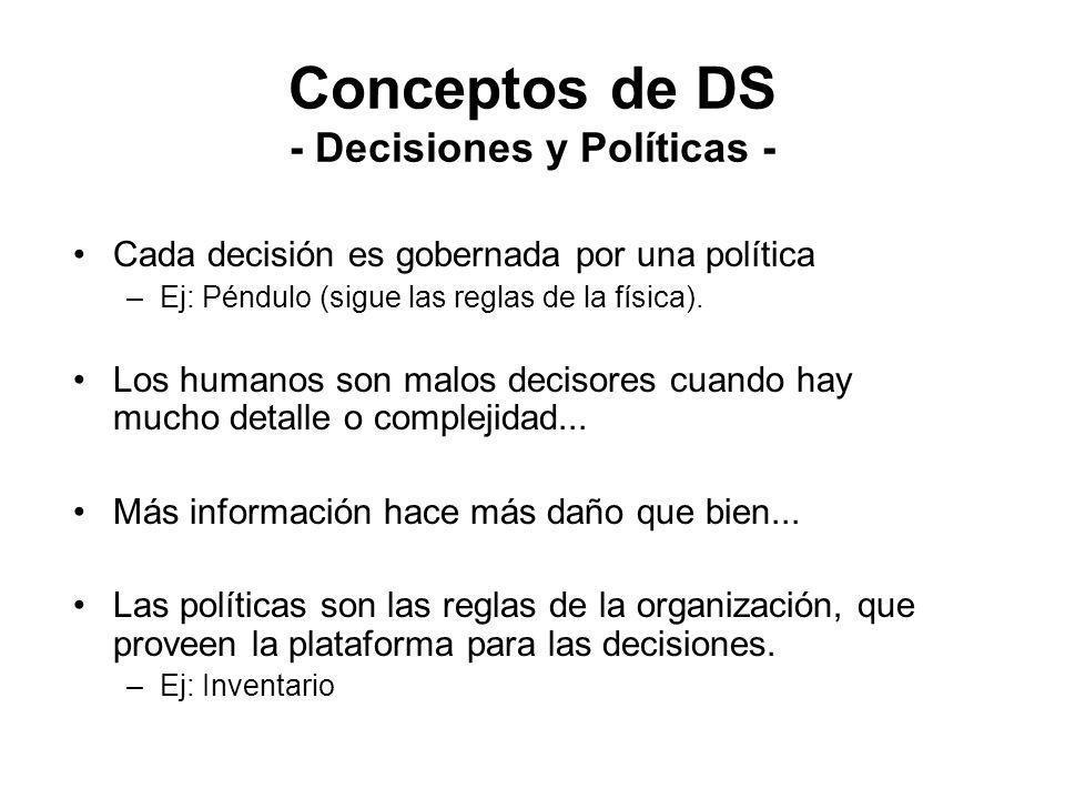 Conceptos de DS - Decisiones y Políticas -