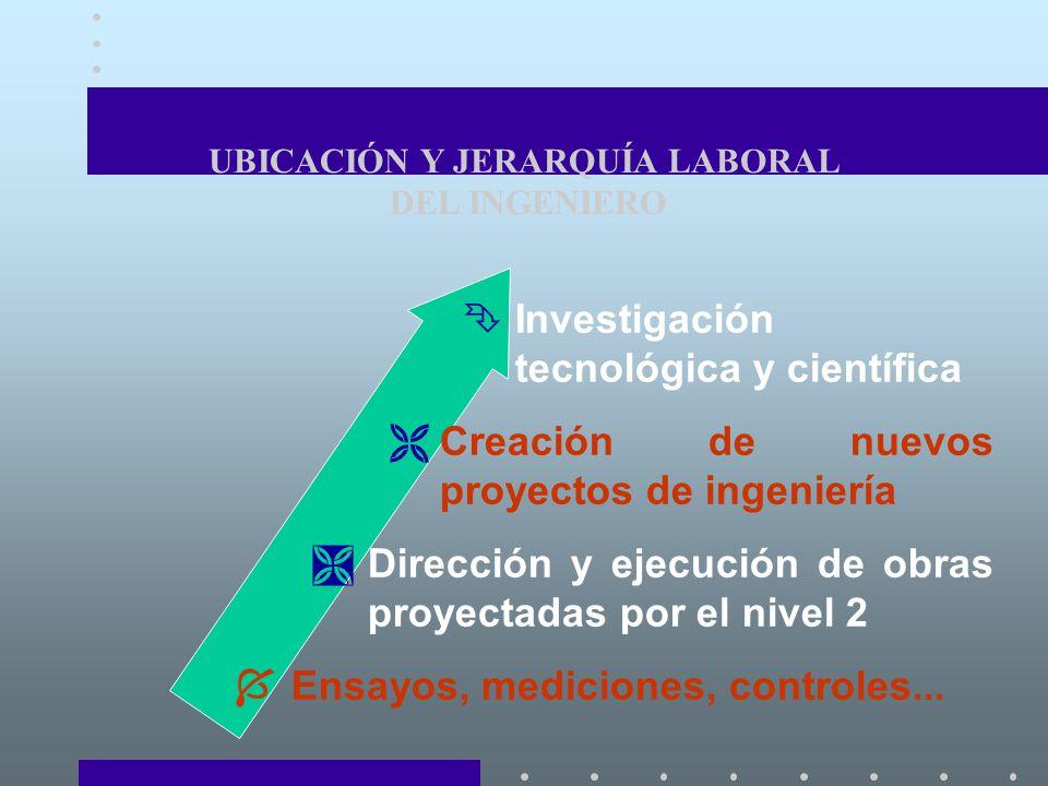 UBICACIÓN Y JERARQUÍA LABORAL DEL INGENIERO