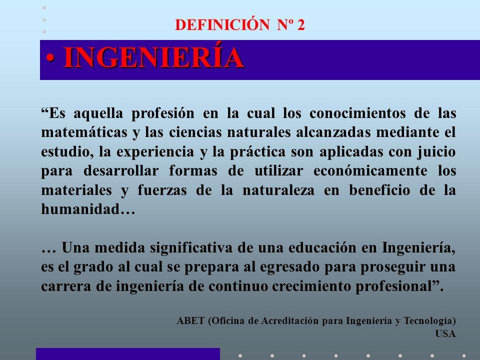 INGENIERÍA DEFINICIÓN Nº 2