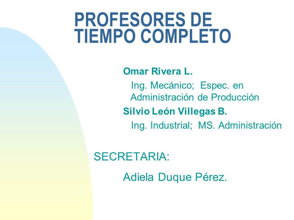 PROFESORES DE TIEMPO COMPLETO