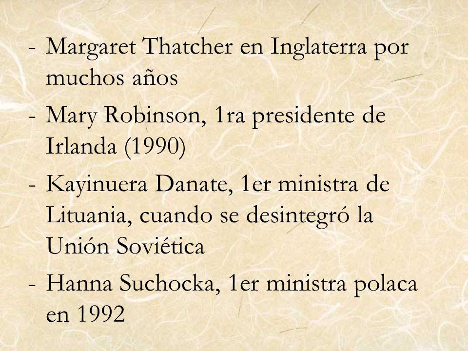 Margaret Thatcher en Inglaterra por muchos años