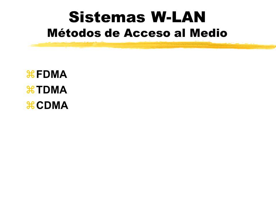 Sistemas W-LAN Métodos de Acceso al Medio