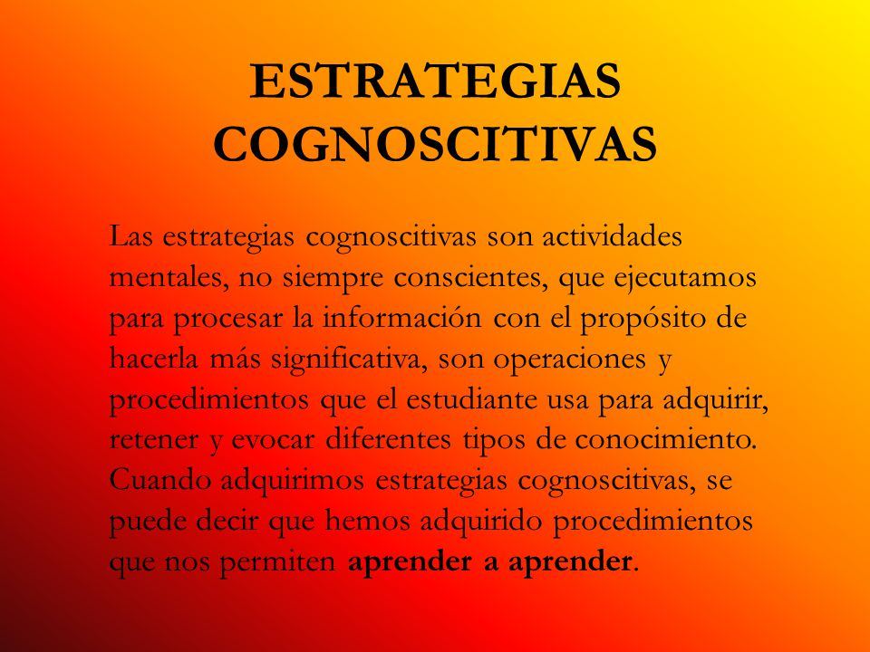 ESTRATEGIAS COGNOSCITIVAS