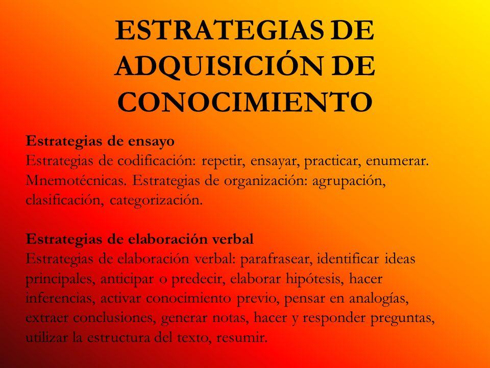 ESTRATEGIAS DE ADQUISICIÓN DE CONOCIMIENTO