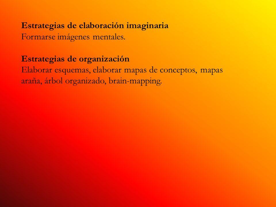 Estrategias de elaboración imaginaria