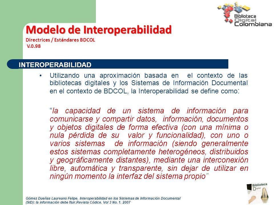 Modelo de Interoperabilidad