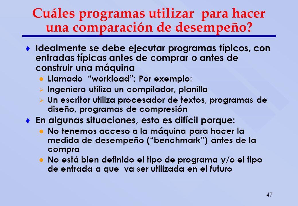 Escogiendo Programas para la evaluación