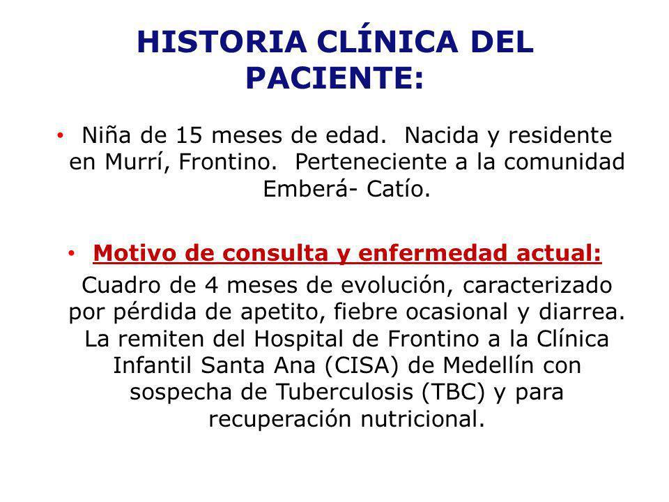 HISTORIA CLÍNICA DEL PACIENTE: