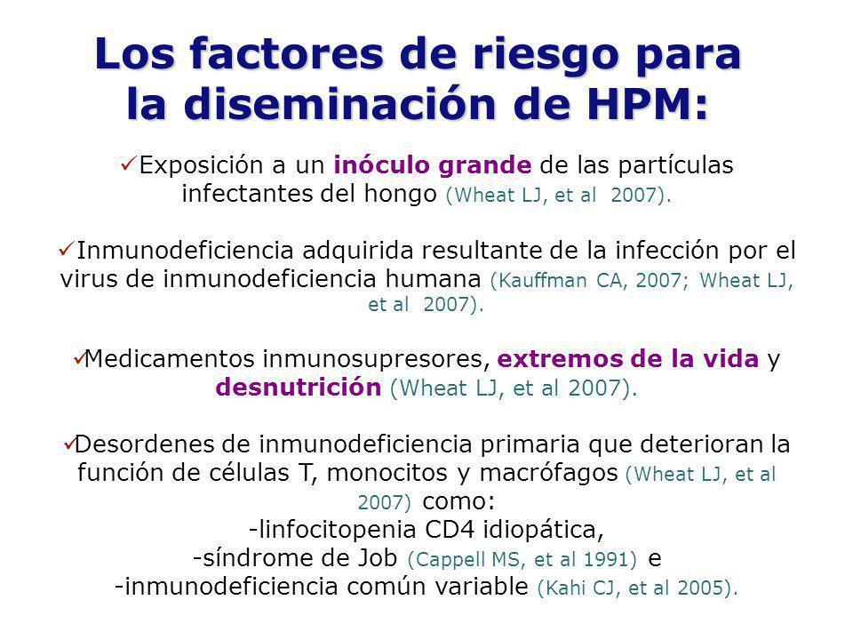 Los factores de riesgo para la diseminación de HPM: