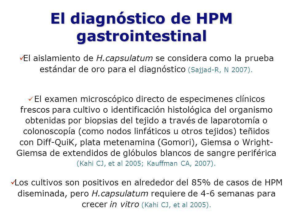 El diagnóstico de HPM gastrointestinal