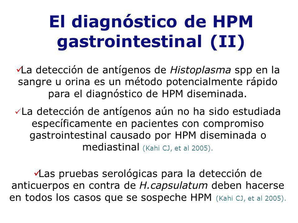 El diagnóstico de HPM gastrointestinal (II)