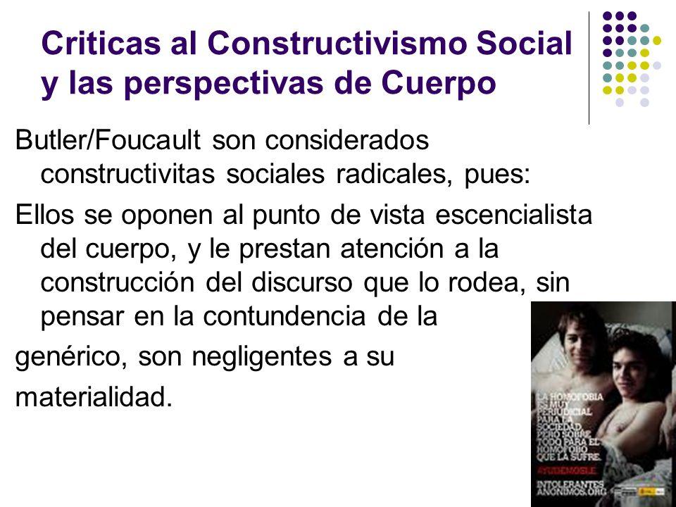 Criticas al Constructivismo Social y las perspectivas de Cuerpo
