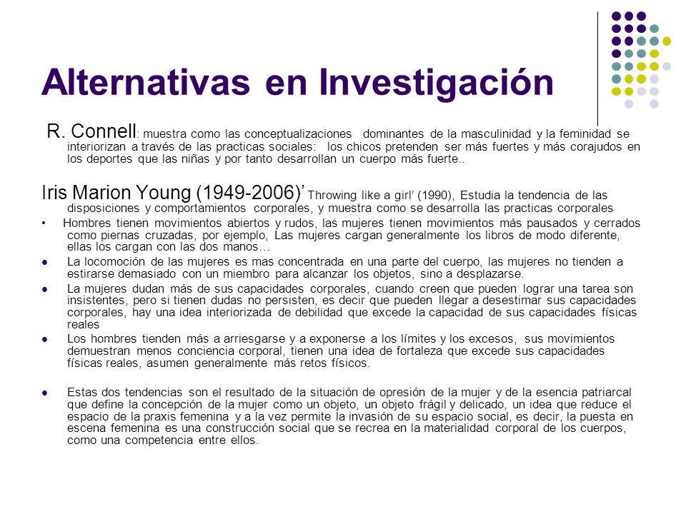Alternativas en Investigación