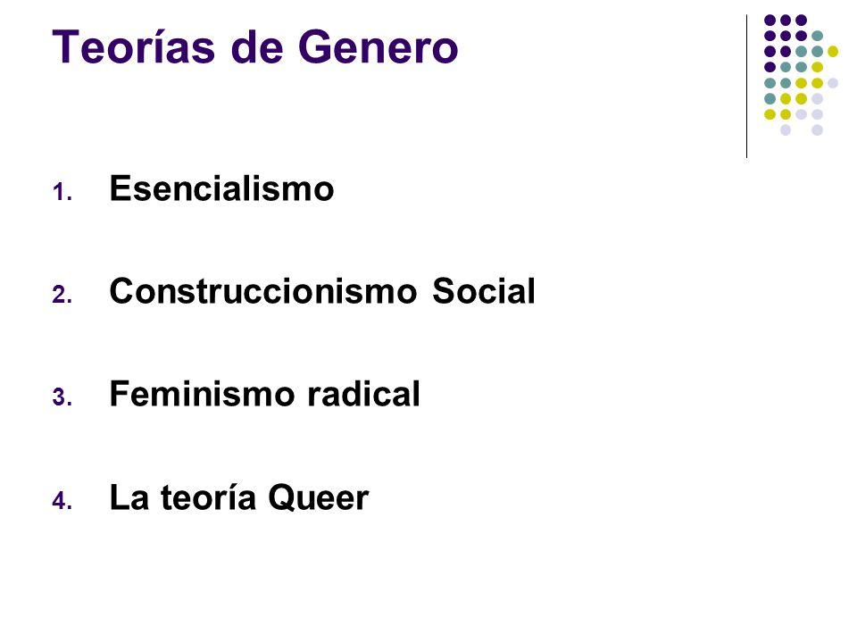 Teorías de Genero Esencialismo Construccionismo Social