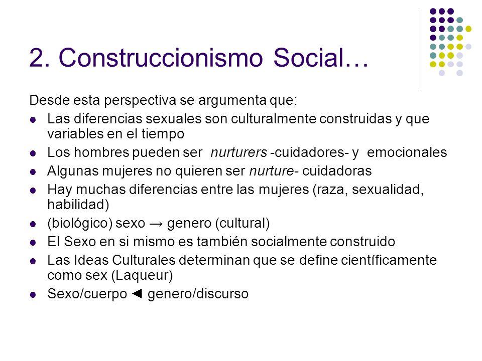 2. Construccionismo Social…