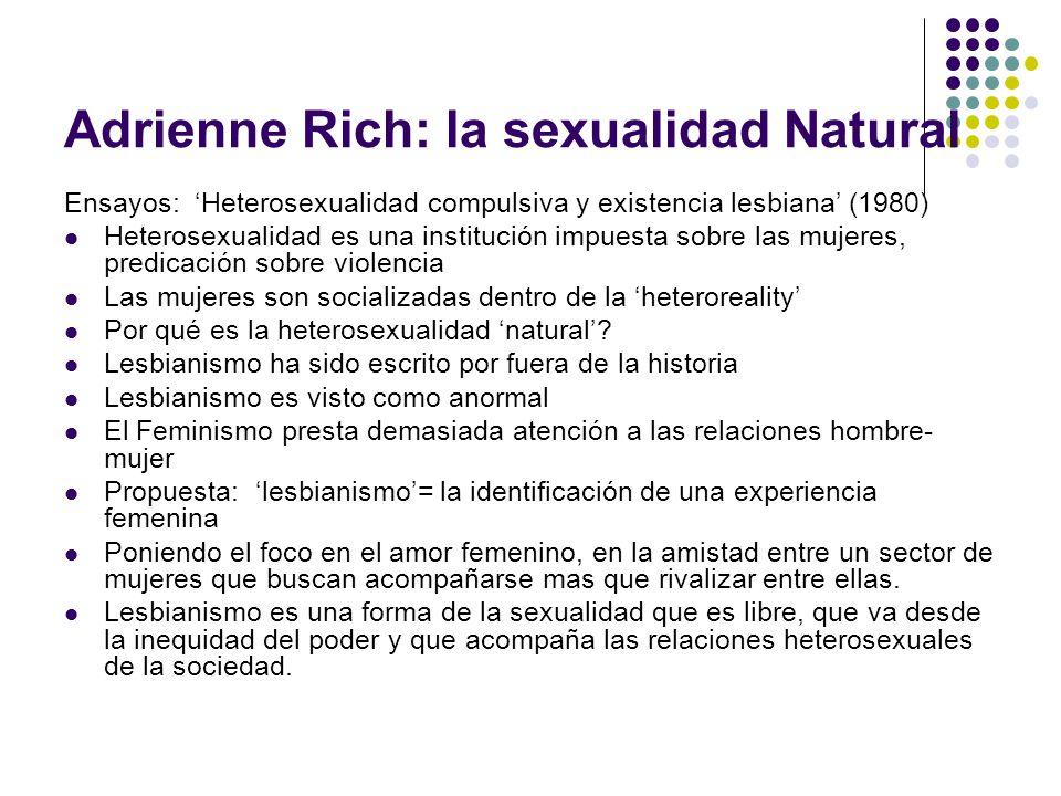Adrienne Rich: la sexualidad Natural