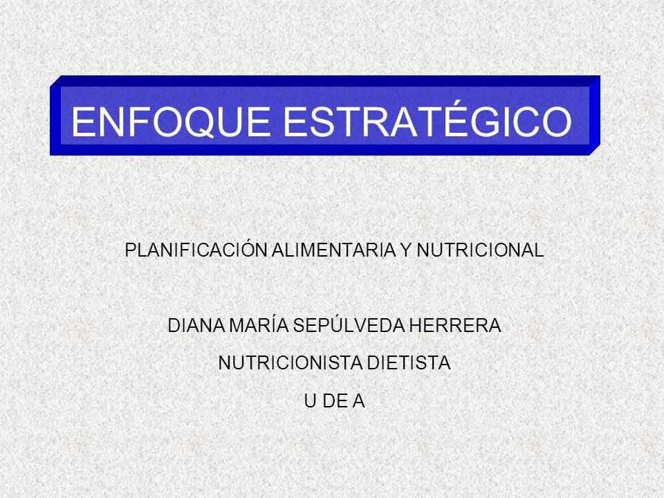 ENFOQUE ESTRATÉGICO PLANIFICACIÓN ALIMENTARIA Y NUTRICIONAL
