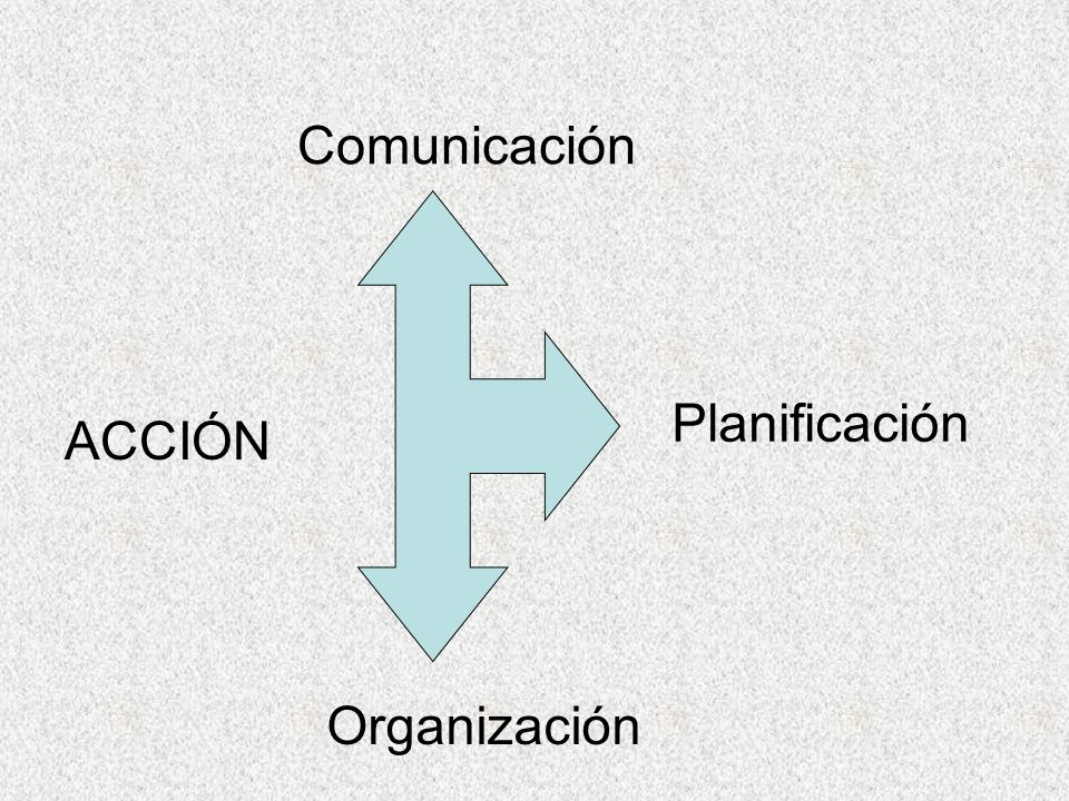 Comunicación ACCIÓN Planificación Organización