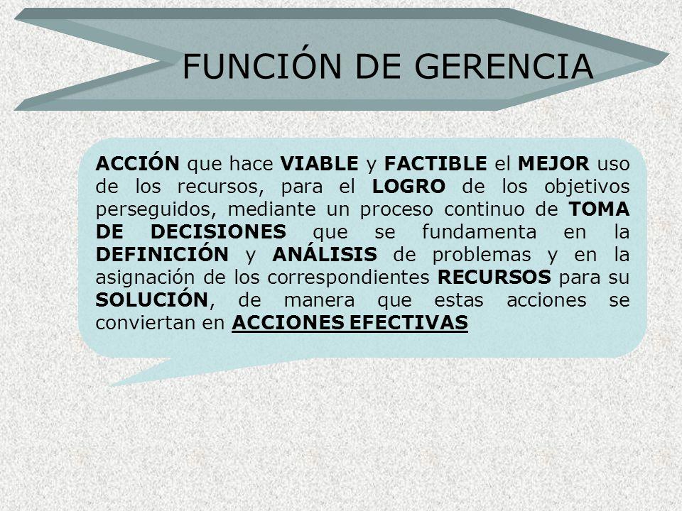 FUNCIÓN DE GERENCIA
