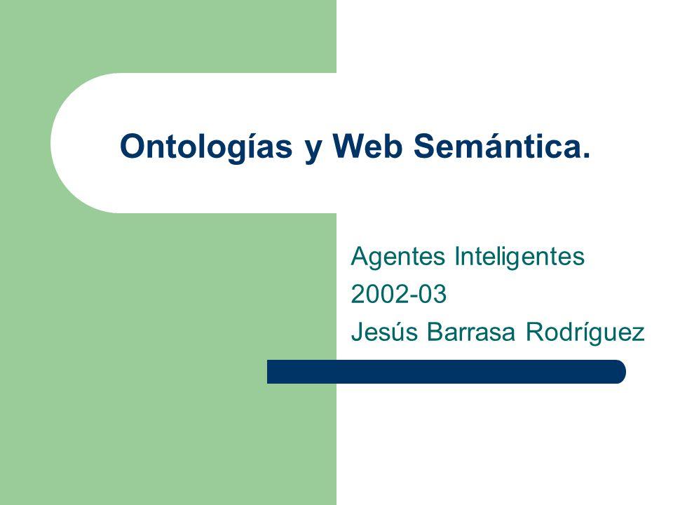 Ontologías y Web Semántica.