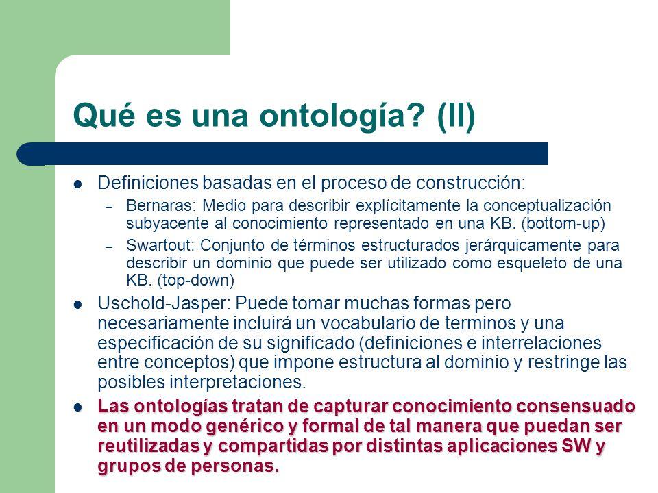 Qué es una ontología (II)