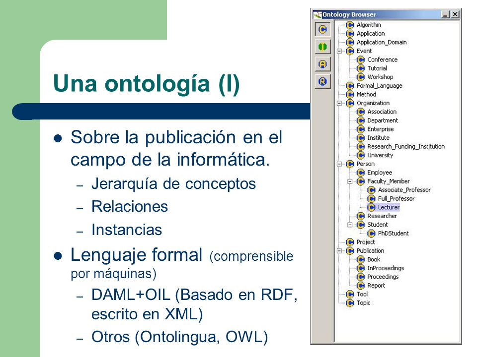 Una ontología (I) Sobre la publicación en el campo de la informática.