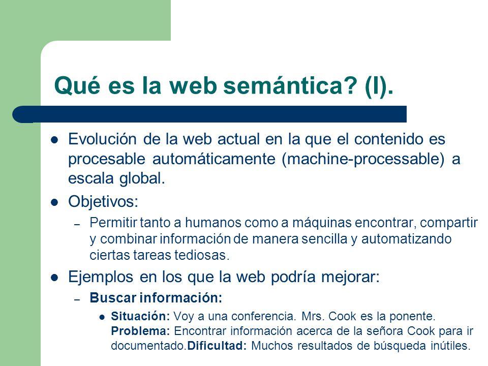 Qué es la web semántica (I).