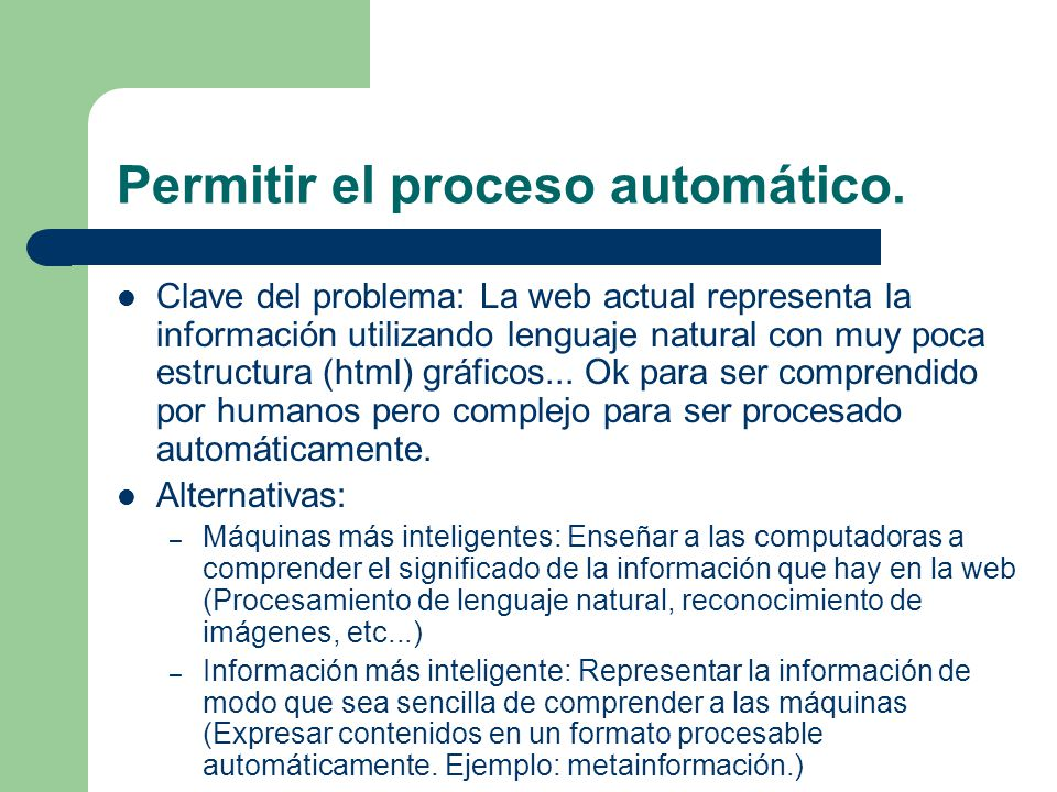 Permitir el proceso automático.