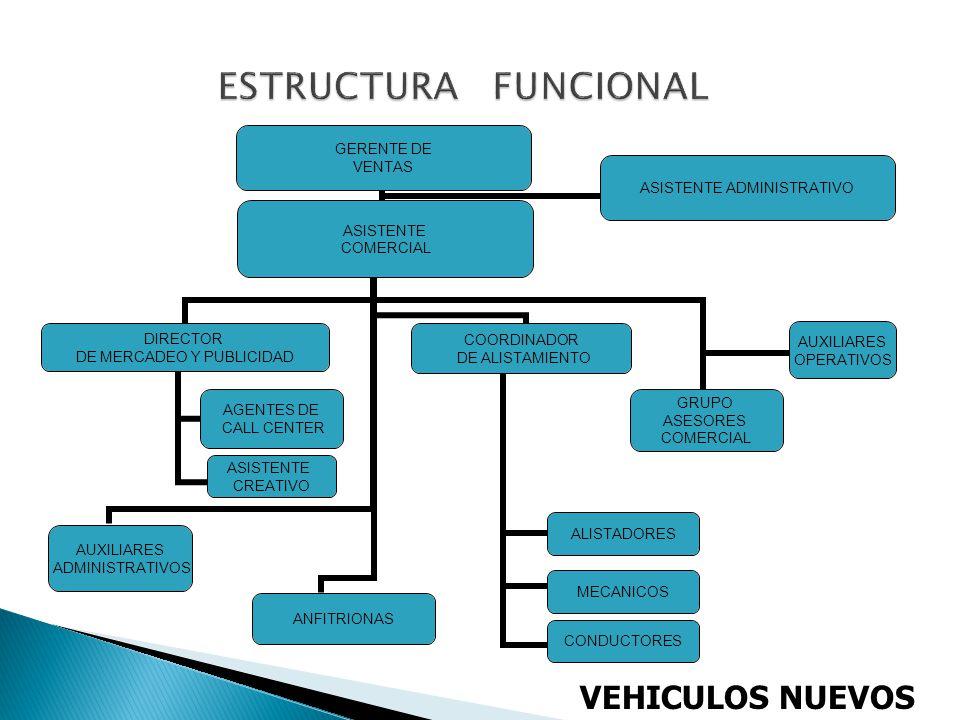 ESTRUCTURA FUNCIONAL VEHICULOS NUEVOS